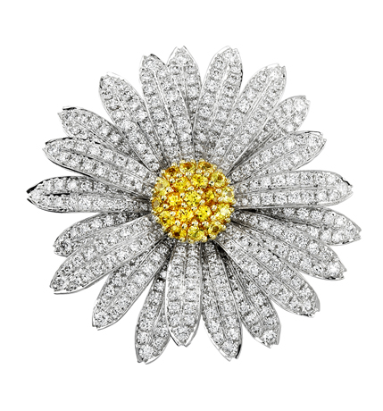 Aaron Henry diamond daisy brooch