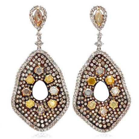 Bavna diamond earrings