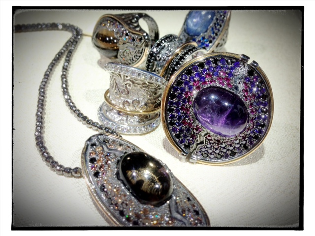 Silver and gold plate jewelry with natural gems and CZ from Bohemme of Spain