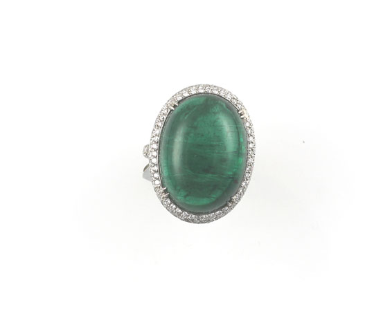 Dena Kemp emerald and diamond ring