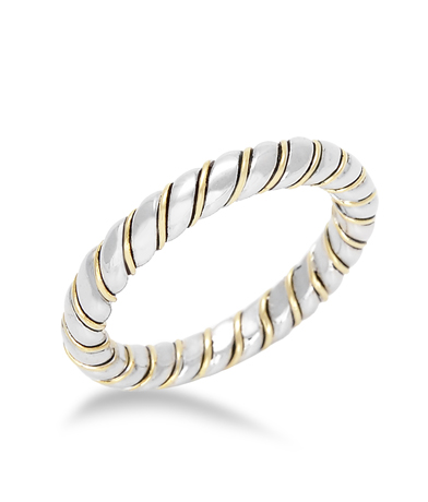 Hera Collection silver and 18k gold band
