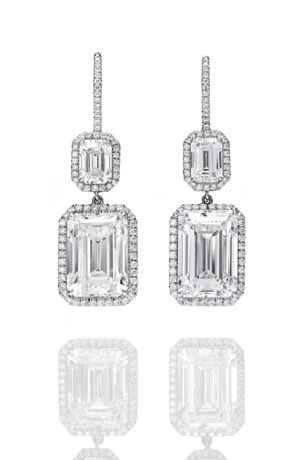 Diamond earrings from Harry Winston