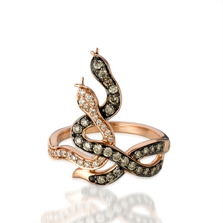 Le Vian snake ring with diamonds