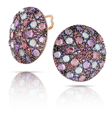 Colored gemstone and 18k gold earrings from Pasquale Bruni