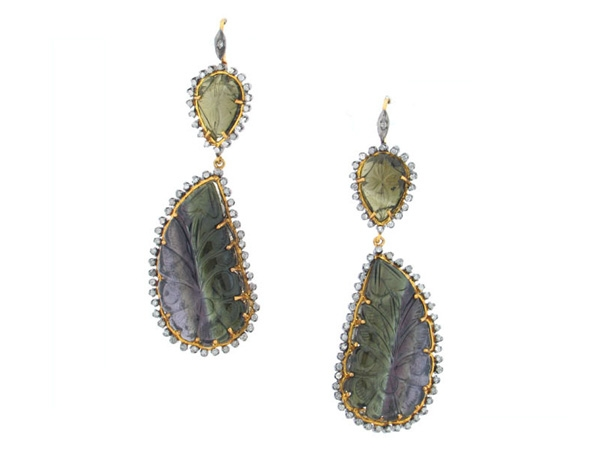 Golden Stone USA colored gemstone earrings