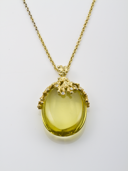 Haggai Collection lime citrine pendant
