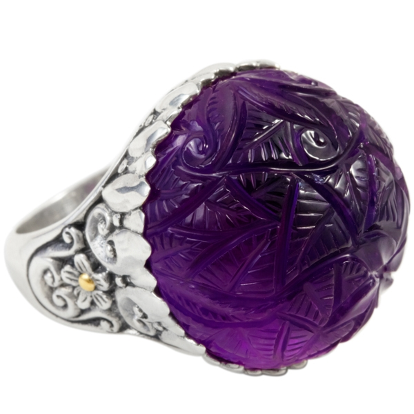 Cydonia and Co. carved amethyst ring