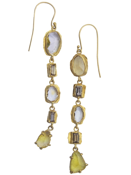 Margery Hirschey tourmaline line drop earrings