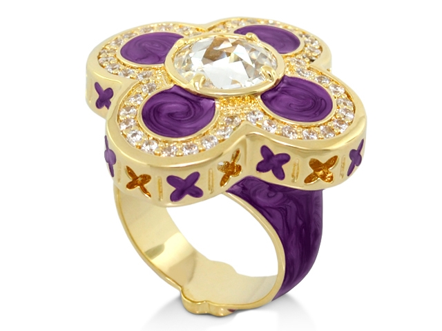 Lauren G. Adams Floral Knight ring