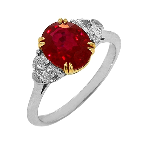 CH Hakimi ruby and diamond ring