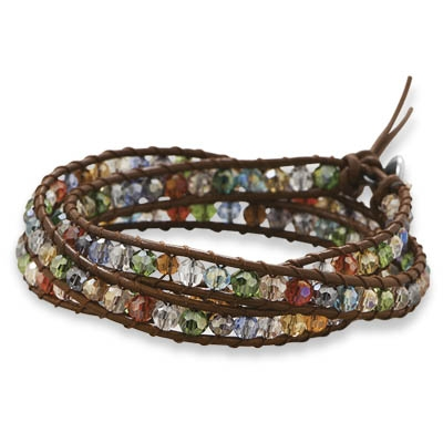 Silver Stars Collection multicolor wrap bracelet
