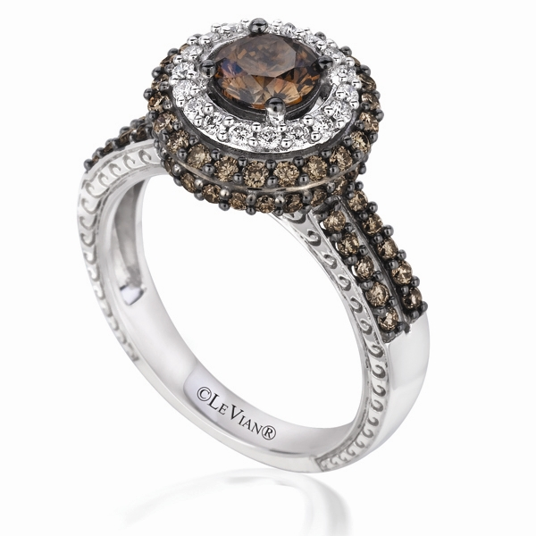 Le Vian Chocolate Diamond halo ring