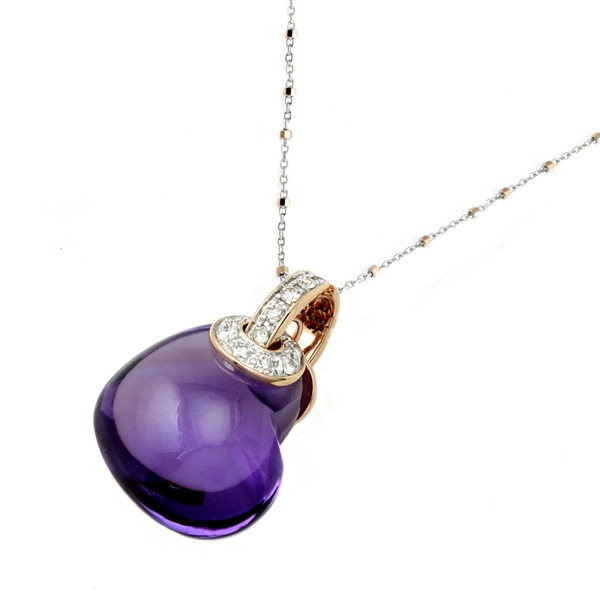 Oro Alexander purple heart necklace