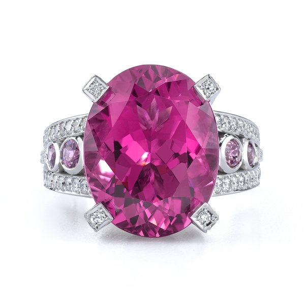 Omi Prive pink tourmaline cocktail ring