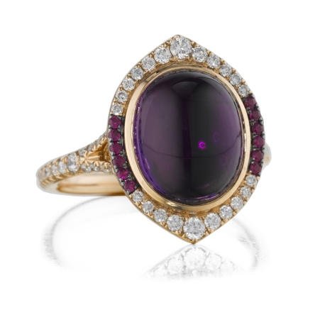 Christophe Danhier Stare amethyst ring