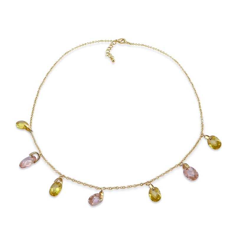 M.Y. International colored CZ necklace
