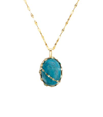 Turquoise and 14k gold pendant necklace from the new StoneGold collection