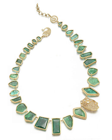 Coomi emerald necklace for Gemfields