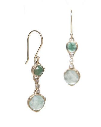 Jennifer Dawes emerald earrings