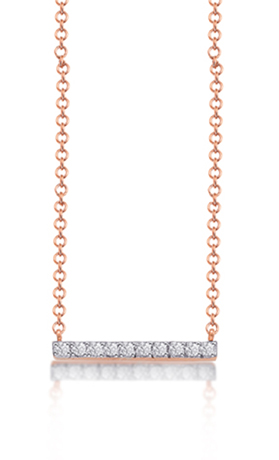 Kacey K bar necklace in 14k gold