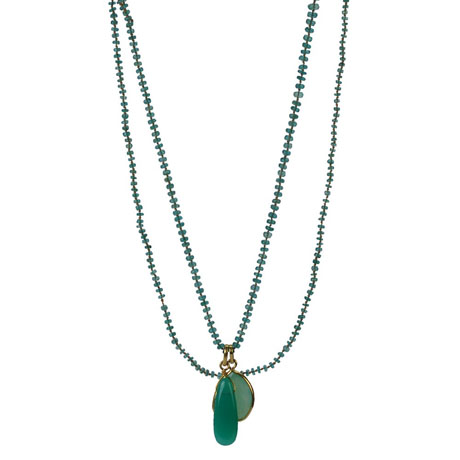 Lena Skadegard emerald necklace