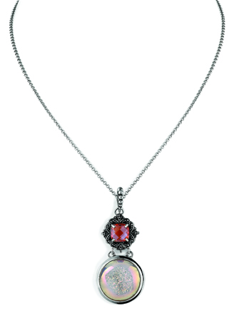 Lori Bonn silver and drusy necklace