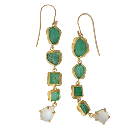 Margery Hirschey emerald earrings
