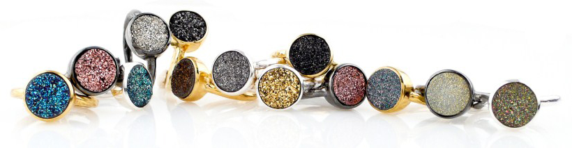Robindira Unsworth rings with drusy