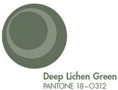 Deep Linchen Green Pantone Fall 2013