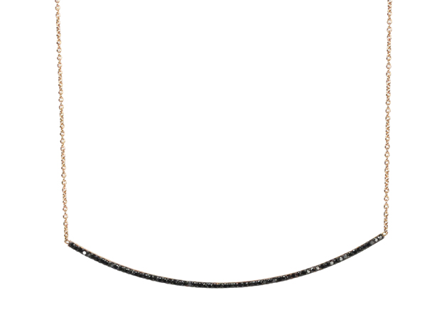 Kismet bar necklace in 14k gold