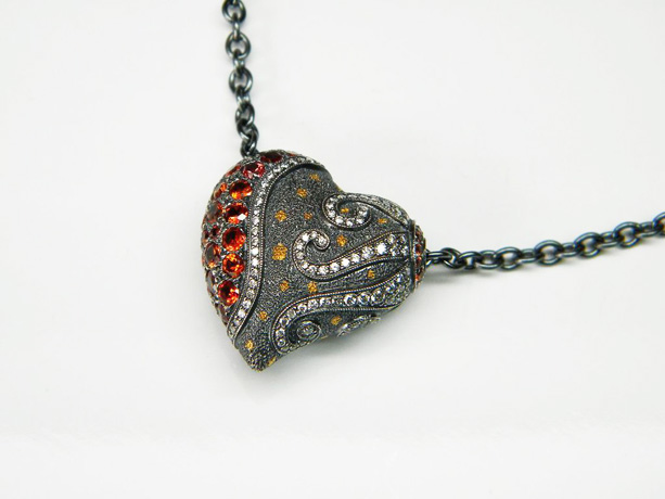 G & G Creations Love Collections of sterling and 24k gold hearts