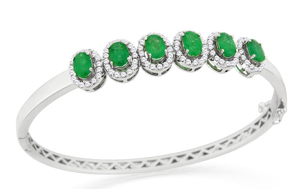 William Lam Emerald Bangle