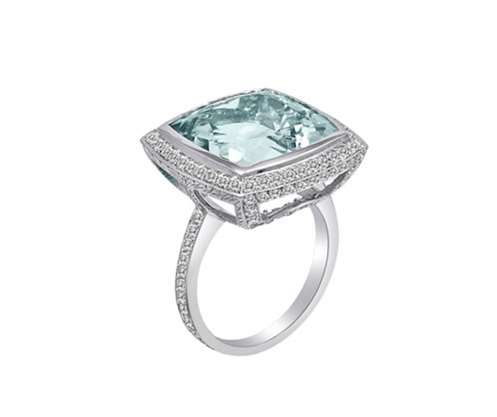 Lisa Nik Honeymoon collection aqua ring