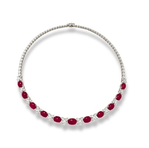 Suna Bros. Burma ruby necklace