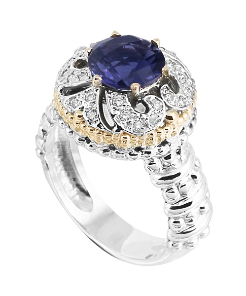Vahan Jewelry two-tone iolite ring