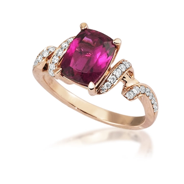 Parle Jewelry Designs rubellite spiral ring