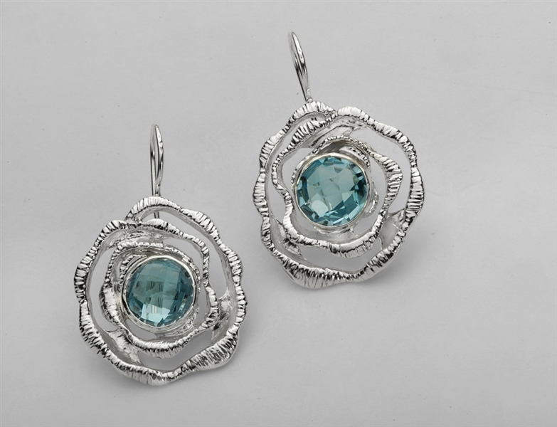Avi Soffer blue topaz swirl earrings