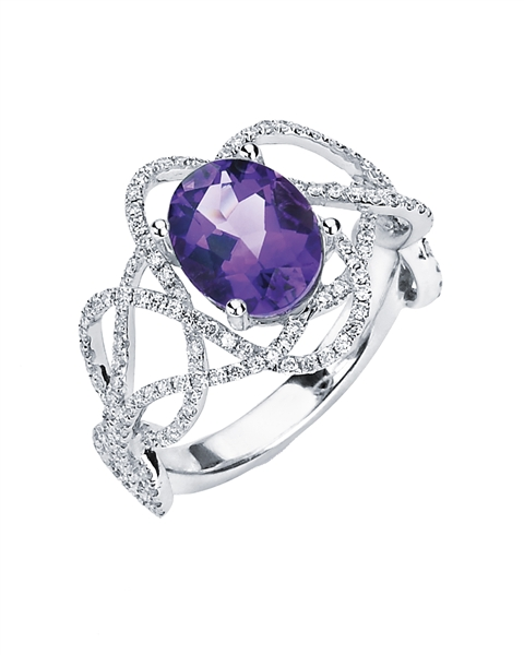 Hidalgo tanzanite wave ring
