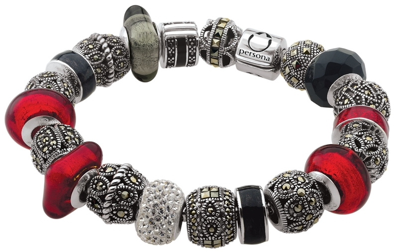 Persona Black Label red bead bracelet