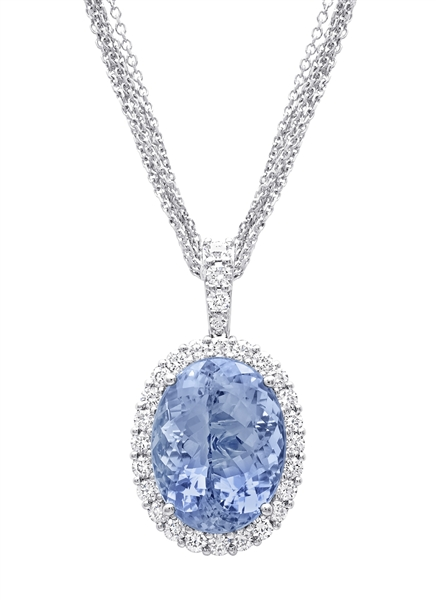 Coast Diamond aquamarine pendant