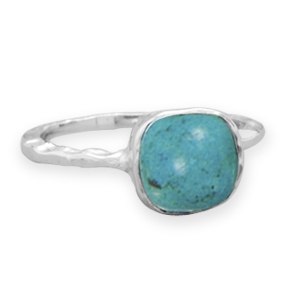 Silver Stars Collection turquoise stacking ring