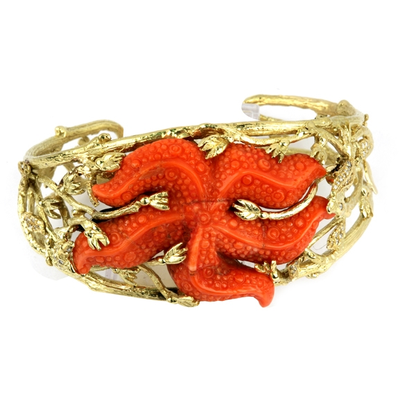 Gregory Mikaelian Jeanette starfish cuff