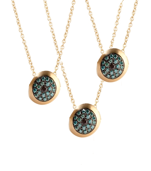 Nada G blue diamond Healing Eye pendants