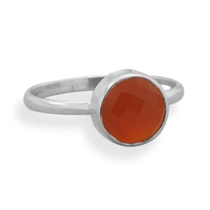 Silver Stars Collection carnelian stacking ring
