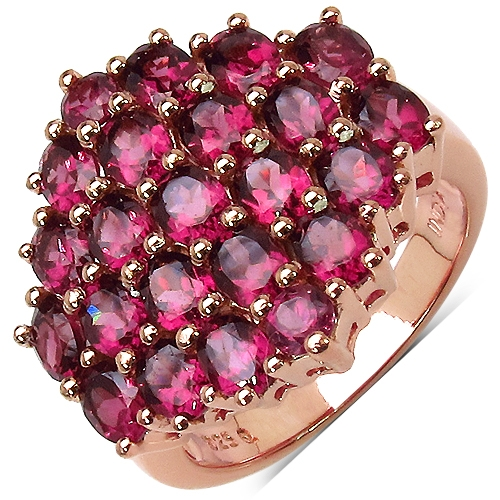 Quintessence Jewelry Co. rhodolite cluster ring