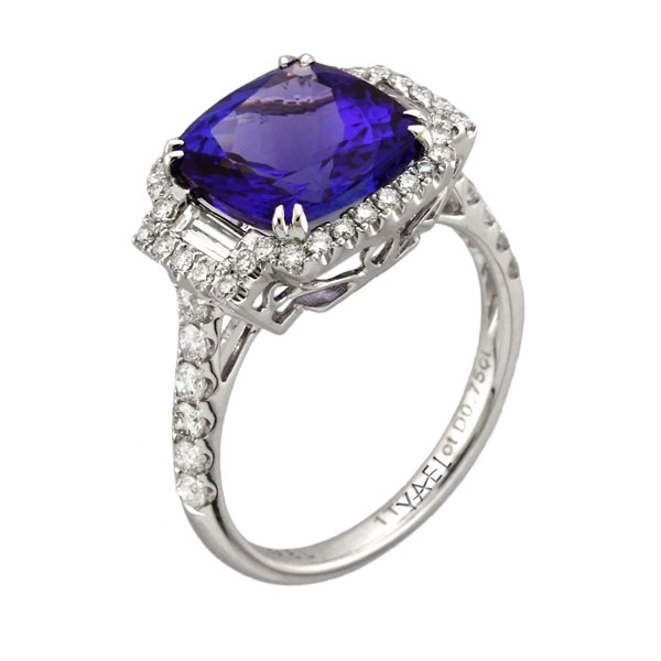 Yael Designs Troika tanzanite ring