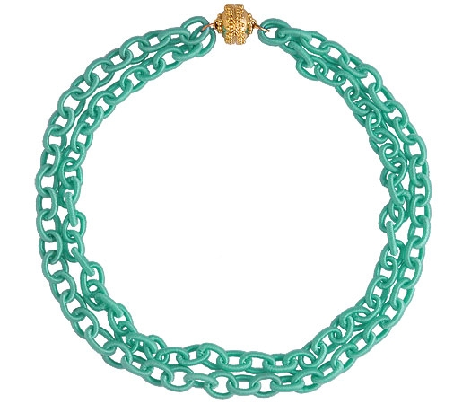 Clara Williams turquoise silk necklace