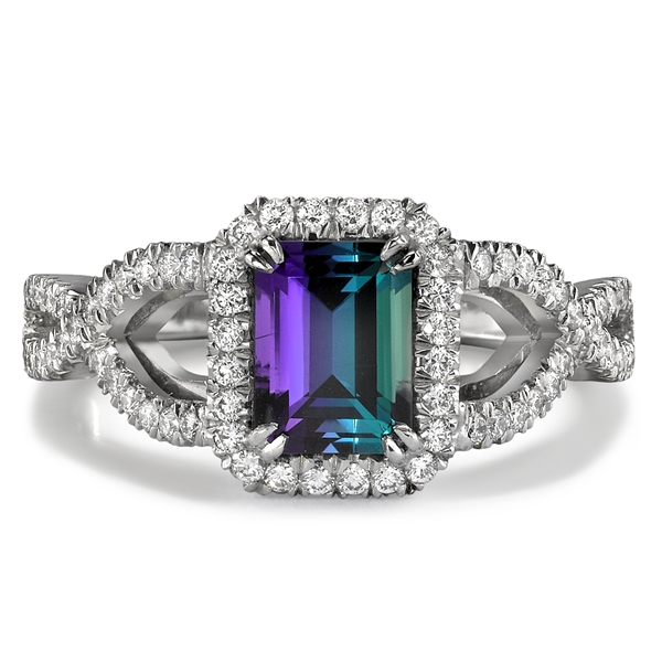 Omi Prive alexandrite twist ring