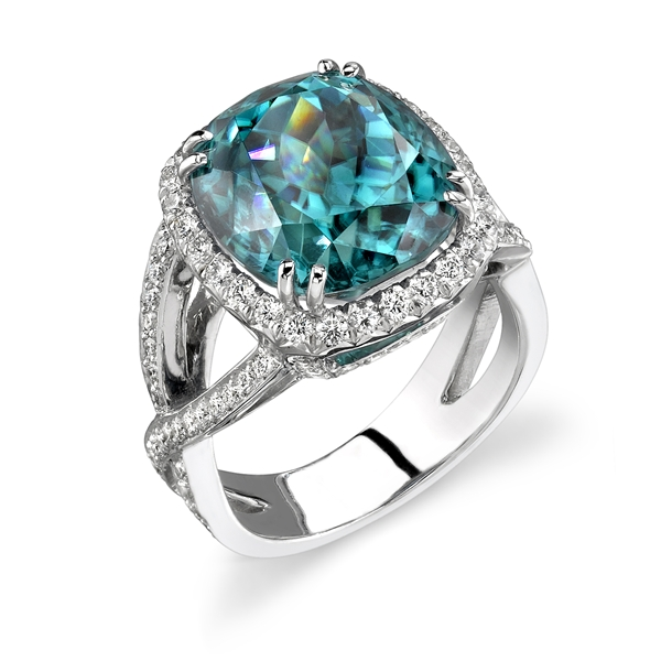 Omi Prive blue zircon twist ring