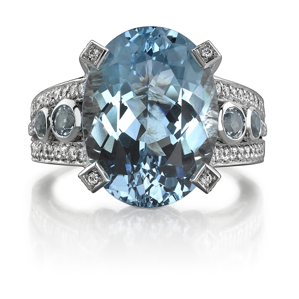 Omi Prive aquamarine cocktail ring